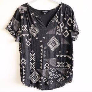 Lucky Brand black print short sleeve tee